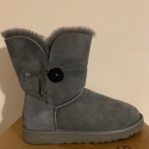 Ugg Grey Bailey Button Boots